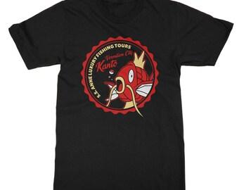 Kanto Fishing Tours T-Shirt inspired by Pokemon