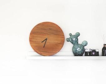 Round clock - Wall Clock Minimalist Clock Wood Clock Wooden Clock Modern Wall Clock Clock  office clock Big Oval Clock Rustic clock