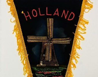 Holland, The Netherlands - Vintage Pennant