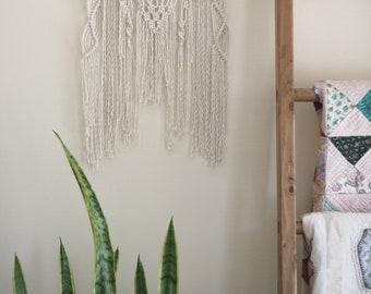 Macrame Wall Hanging on Bamboo
