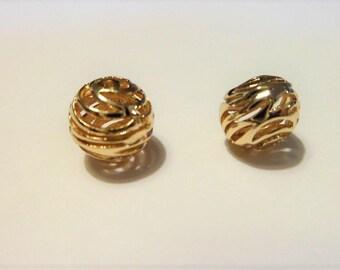 Gold plated spiral balls