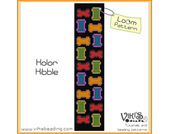 Bead Loom Pattern: Kolor Kibble - INSTANT DOWNLOAD pdf -Discount codes are available