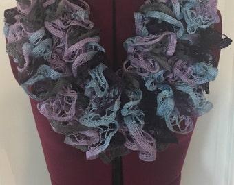 Custom Knitted Ruffle Scarf