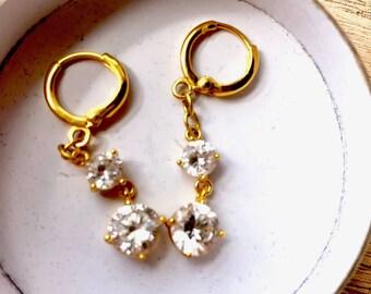 Elegant white sapphire earrings