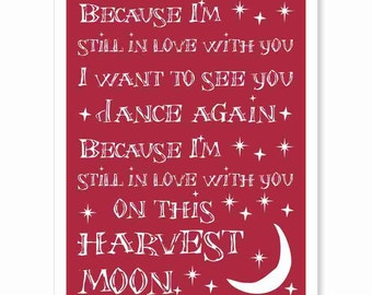 Harvest moon lyrics etsy stopboris Images