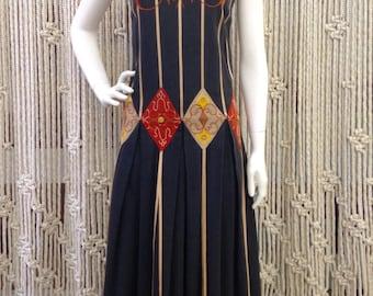 Ultra cool 1970's Josefa bohemian festival dress