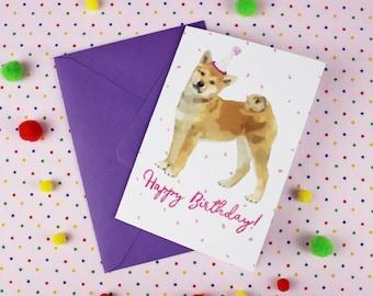 Shiba inu card / Dog Birthday card / Personalised card / Dog card / Shiba inu Birthday card / Cute birthday card / Shiba inu / Cute dog card