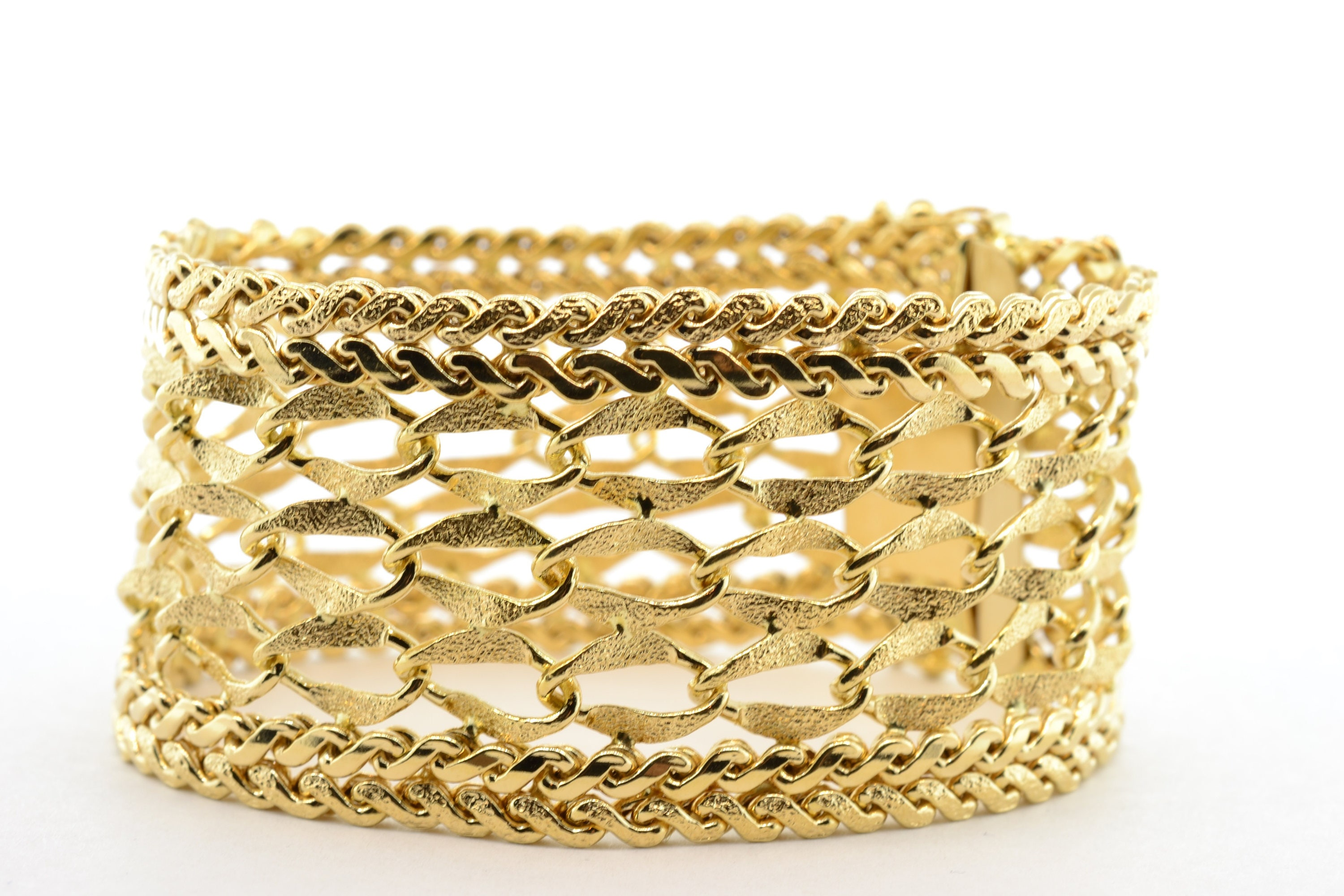 gold bracelet solid yellow wide shop bangle