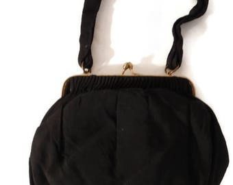 morris moskowitz purse  - morris moskowitz bag - 50s handbag - black vintage purse - small vintage purse - evening bag vintage -
