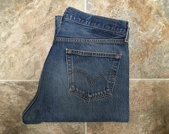 Vintage Men's 80's Levi's 501XX, Jeans, Blue, Red Tab, Denim (W34 x L34)