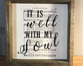 Sheet Music Farmhouse Sign