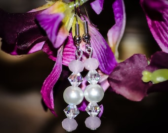 Rose Orchids - Dangle Earrings