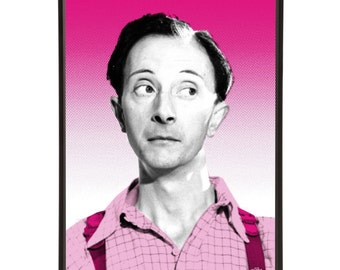 Charles Hawtrey - Pop art portrait of Charles Hawtrey, the camp star of the Carry On films.
