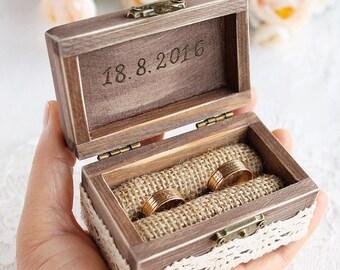 Customized ring box etsy custom ring box wooden ring box rustic chic wedding ring bearer box junglespirit Image collections