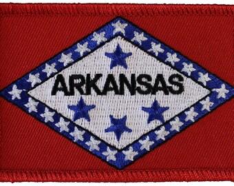 Arkansas Flag Rectangular Patch