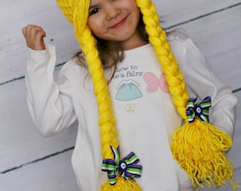 Let Down Your Hair... Rapunzel Inspired Braided Crochet Hat