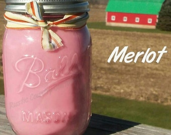 Merlot Soy Candle in 16 oz Jar