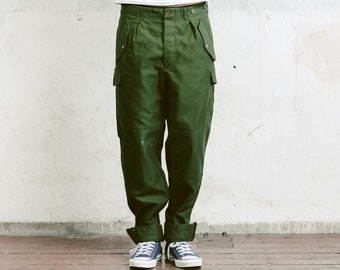 Mens 80s Army Pants . Vintage Military Style Work Trousers Khaki Pants 80s Army Trousers Mens Cargo Pants Vintage Army Pants . size Medium M