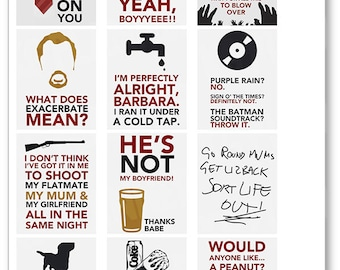Shaun of the Dead Quote Full Box Planner Stickers for Erin Condren Planner, Filofax, Plum Paper