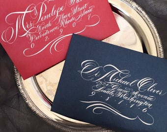 Luxe Hand Written Calligraphy Envelope