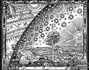 Poster, Many Sizes Available; Flammarion Woodcut Engraving Original