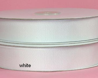 5/8 x 50 yds GROSGRAIN RIBBON - White...*Save 25%