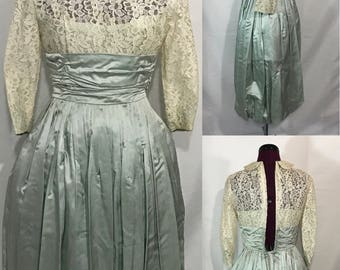 1950's | Bubble Dress | Silk, Lace, and Tulle