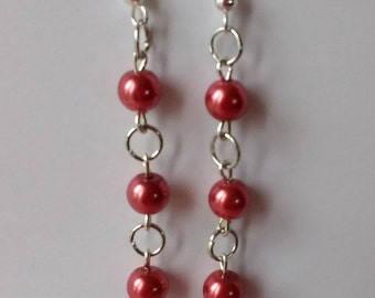 Red pearls on chain