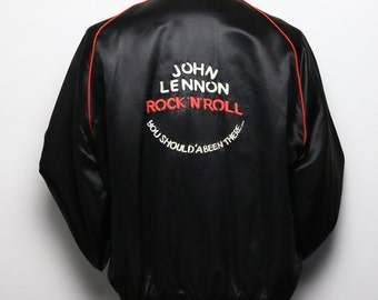 John Lennon Jacket Rare Vintage 1970s Rock N Roll You Should 'A Been There band rock Original 70s