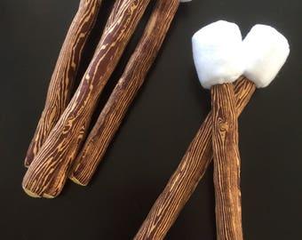 Marshmallow Stick, Kids Campfire, Sold Individually, Soft Stuffed Toy