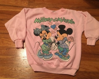 80s Disney mickey and minnie mouse jog togs crewneck sweatshirt