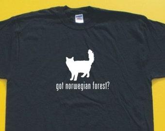 Got Norwegian Forest?  Short Sleeve T-Shirt. w/FREE matching sticker!
