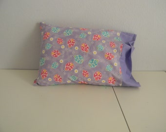 Travel Pillow Case Ladybugs with glitter