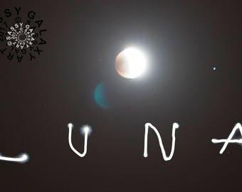 Eclipsed Moon Penmanship, 2014, Digital Print on Aluminum
