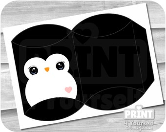 Penguin Gift Box - Instant Download Printables