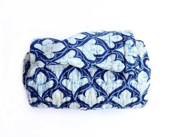 Indigo Quilt for King bed, Blue quilt, blue coverlet, Cotton bedding, Bedcover, Block Printed, home decor, home living, bedspread-  Diya