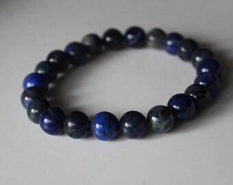 THIRD EYE CHAKRA Bracelet, Third Eye Bracelet, Chakra Bracelet, Lapis Bracelet,