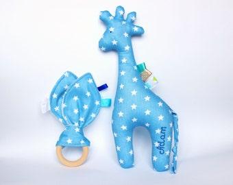 Giraffe baby etsy personalized baby boy gift giraffe baby gift newborn gift plush giraffe toy negle Gallery
