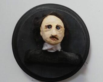 Edgar Allan Poe Bust 4x4