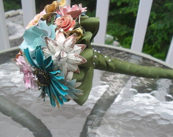 Small Brooch and Enameled Bouquet Made to Order