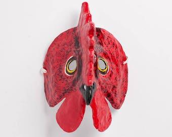 Neues Jahr-Hahn-Papier-Maske