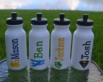 Personalized Kid's Water Bottle, Kid's Paty Favor, Children's Party Favor, Party Favor, Customized Water Bottle, Boy's Party