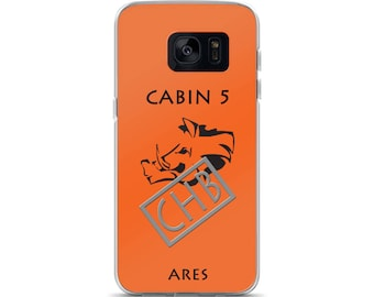 Camp Half-Blood Inspired Percy Jackson Cabin 5 Ares Samsung Case