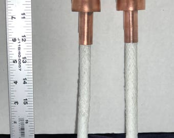 Tiki torch wicks and holders