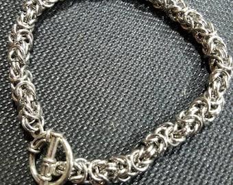 Men's byzantine chainmail bracelet