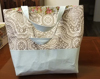 Paisly Flowers Tote Bag