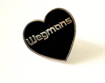 Wegmans is my True Love Lapel Pin - 1 inch soft enamel, funny, Western NY, black silver