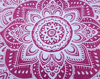 Mandala Indian Throw Double Bedspread Wall Hanging Boho Yoga