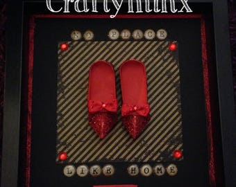 Handmade by Craftyminx origami ruby slippers art