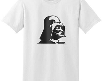 Star Wars Inspired Darth Vader Head Facing Sideways Black Gray Grey T-Shirt T-Shirts Tops Women Men Boys Girls Ladies Unisex Fit